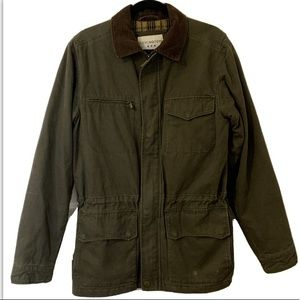 VTG Jacket Coat Wool Blend Lined  Corduroy Collar